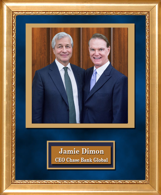 Craig Keeland with CEO Chase Bank Global Jamie Dimon