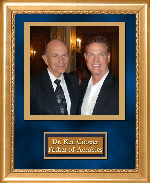Craig Keeland with Dr. Ken Cooper Father of Aerobics and Founder of Cooper Clinic