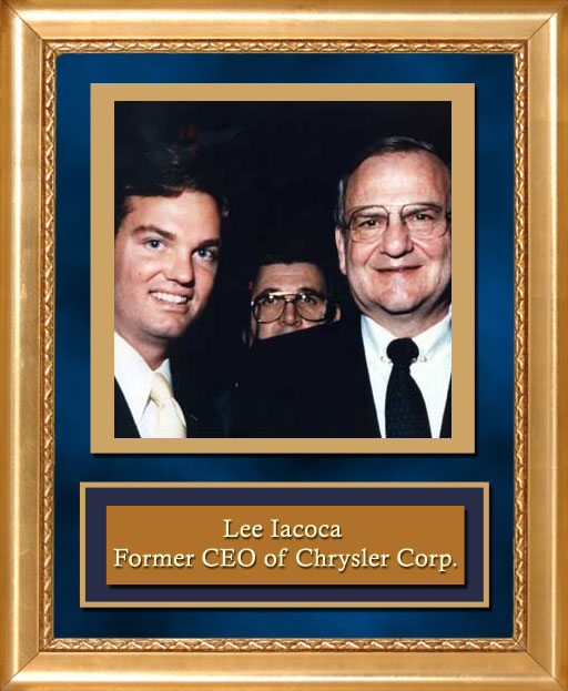 Craig Keeland with CEO of Chrysler Corporation Lee Iacoca