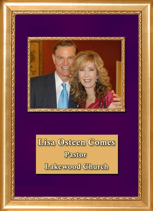 Craig Keeland with Pastor of Lakewood Church, Lisa Osteen Comes