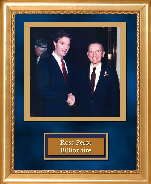 Craig Keeland with Ross Perot, Billionaire