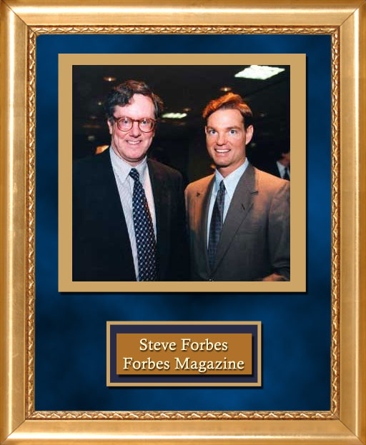 Craig Keeland with Forbes Magazine Steve Forbes