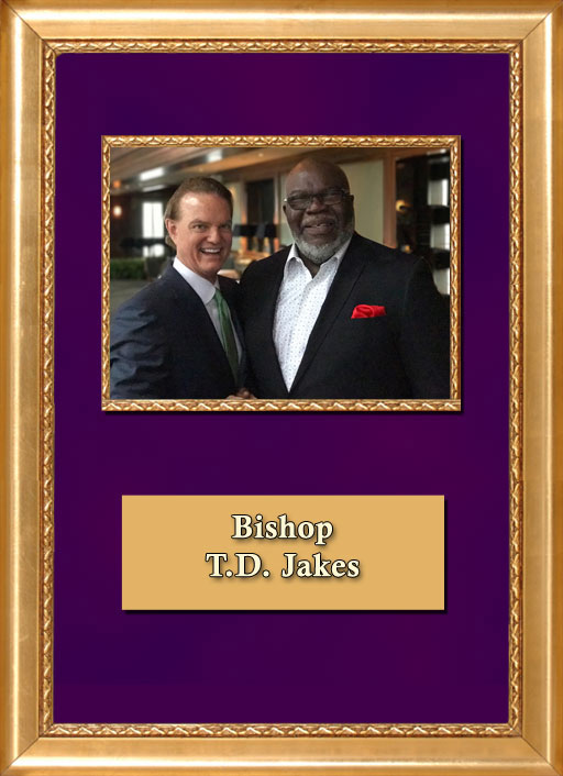 Craig Keeland with Bishop T.D. Jakes