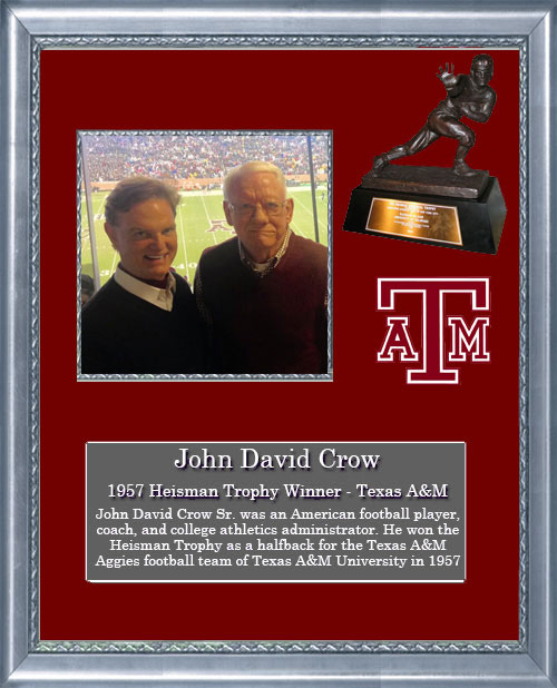 Craig Keeland with Heisman Trophy Winner, John David Crow