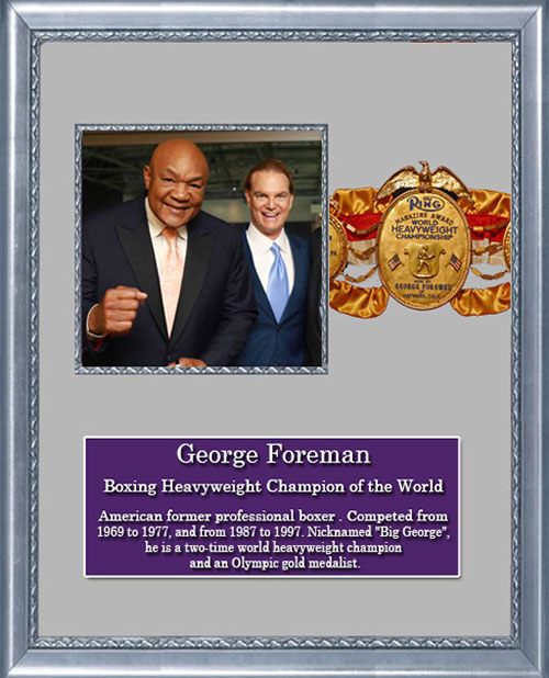 Craig Keeland with Boxing Heavyweight Champion of the World, George Foreman