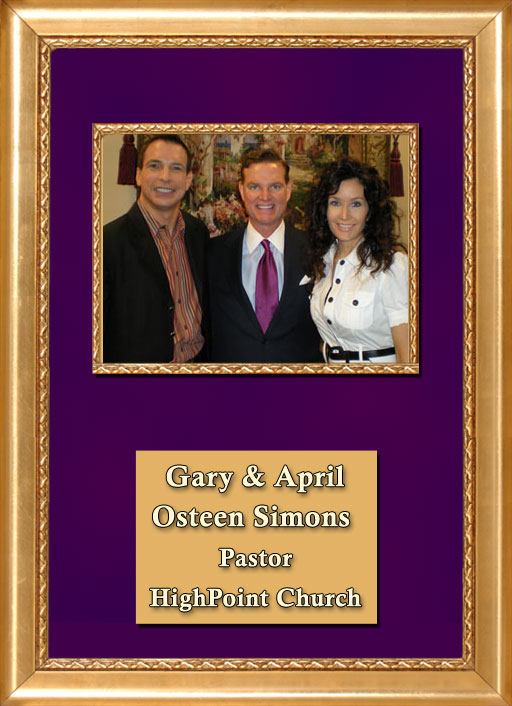 Craig Keeland with The Pastor Of Highpoint Church Houston Texas, Gary and April Simons