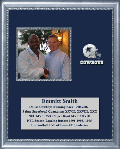 Craig Keeland with Emmitt Smith Dallas Cowboys Running Back and 3 time Super Bowl Champion and Pro Football Hall of Fame