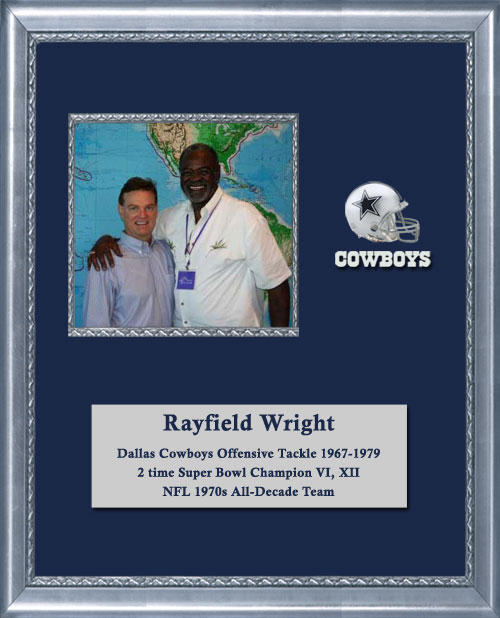Craig Keeland with Dallas Cowboy Offensive Tackle, 2 time Super Bowl Champion and NFL all decade team, Rayfield Wright