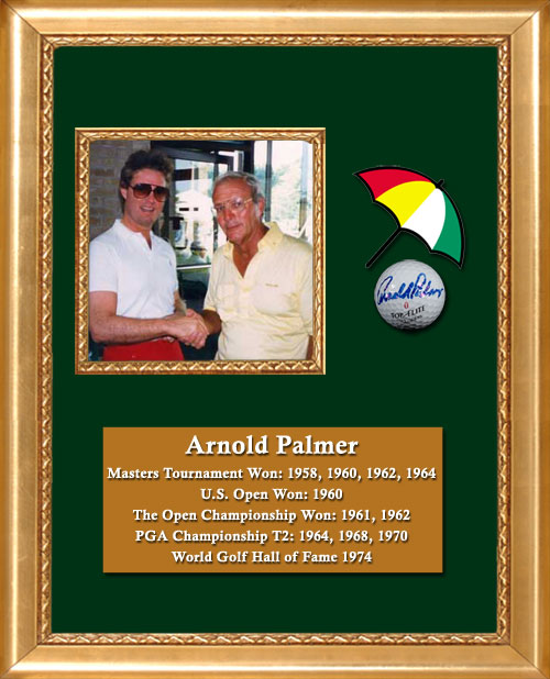Craig Keeland with Arnold Palmer Master Tournament Winner, US Open Winner, Open Championship Winner, World Golf Hall of Fame in 1974