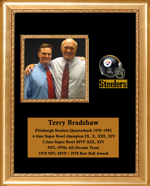 Craig Keeland with Pittsburgh Steelers Quarterback and 4 time Super Bowl Champion, NFL all Decade Team, NFL MVP, Terry Bradshaw