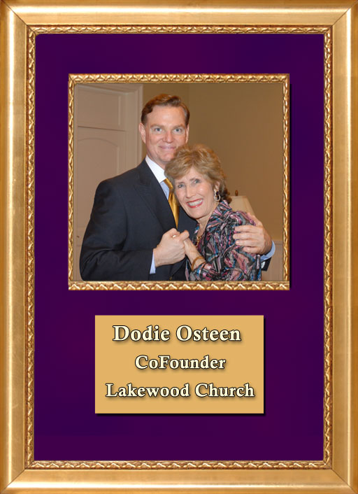 Craig Keeland with CoFounder of Lakewood Church, Dodie Osteen