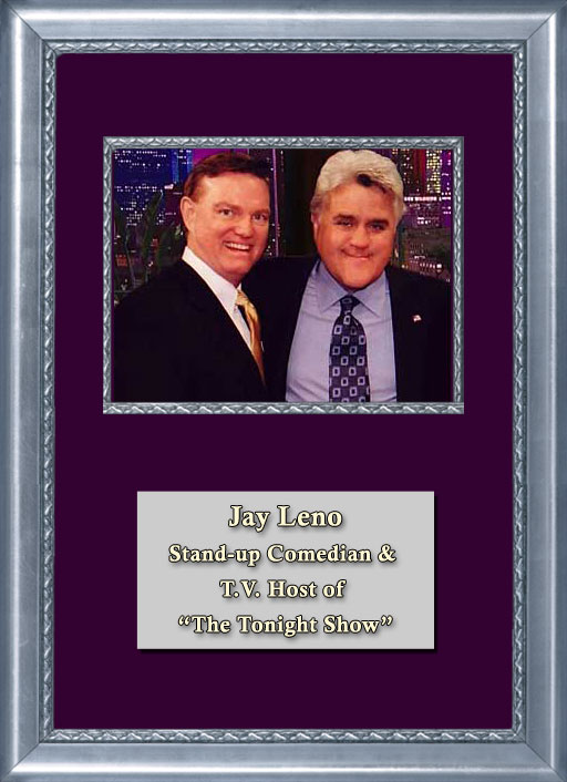 Craig Keeland with stand up comedian and TV host of The Tonight Show Jay Leno
