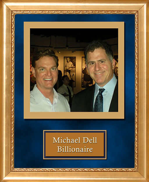 Craig Keeland with Michael Dell, Billionaire