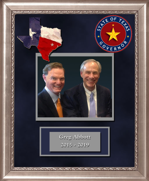 Craig Keeland with  Governor of Texas Greg Abbott