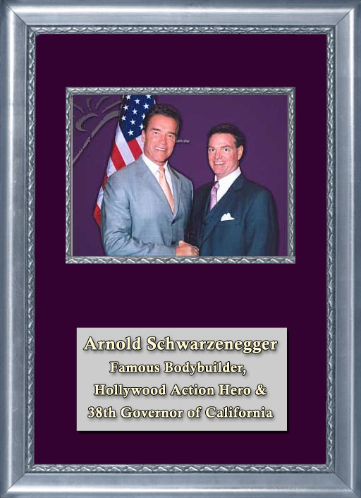 Craig Keeland with Famous Bodybuilder, Hollywood Action Hero and 38th Governor of California, Arnold Schwarzenegger