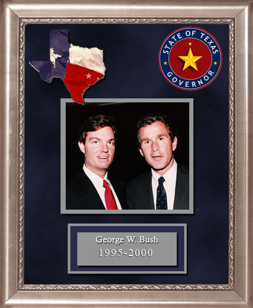 Craig Keeland with  George W. Bush Governor of Texas 1995 to 2000