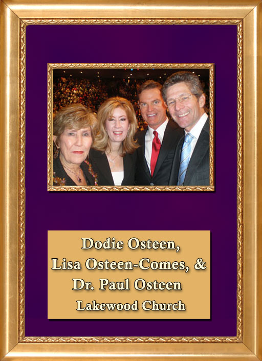 Craig Keeland with Dodie Osteen, Lisa Osteen Comes and Dr. Paul Osteen