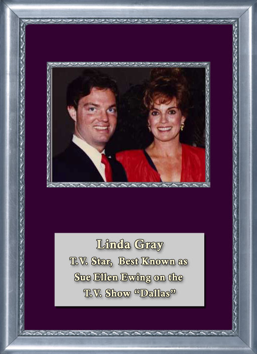 Craig Keeland with TV Star, and starred in the TV hit show Dallas as Sue Ellen, Linda Gray