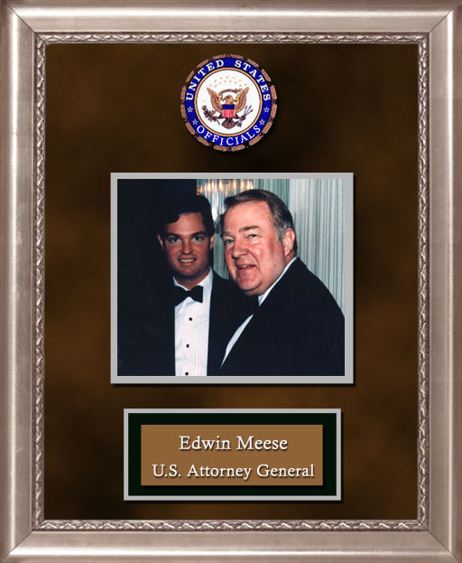 Craig Keeland with  Edwin Meese U.S. Attorney General
