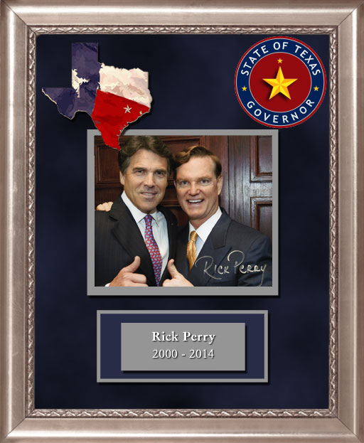 Craig Keeland with  Governor of Texas Rick Perry