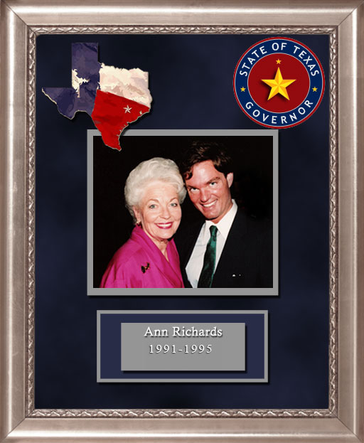 Craig Keeland with  Ann Richards Governor of Texas 1991 to 1995